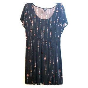 Torrid, mid-length dress, size 1X, Worn Once